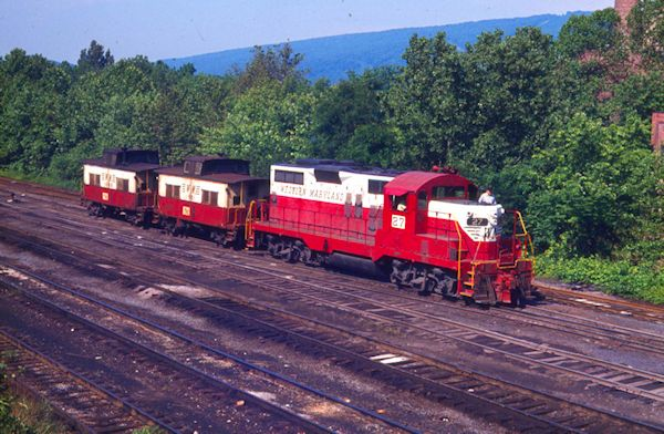 Ridgeley yard Switcher with 2 cabs, Ridgeley Yard, Ridgeley W. Va. 6/14/75.